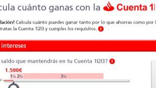 Analizando la Cuenta 1 2 3 del Banco Santander